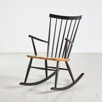 Tremendous Scandinavian Rocking Chair By Roland Rainer For Hagafors 1960S Theyellowbook Wood Chair Design Ideas Theyellowbookinfo