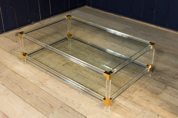 Beau Vintage Acrylic Coffee Table