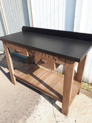 Peachy Vintage Industrial Worktable With Drawers Theyellowbook Wood Chair Design Ideas Theyellowbookinfo