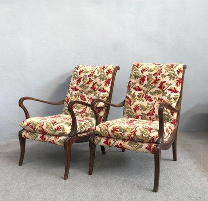 Superieur Vintage Armchairs By Ezio Longhi, 1950s, Set Of 2 2