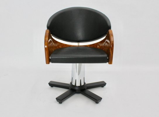 Wondrous Italian Modern Black And Brown Swivel Chair 1989 Gmtry Best Dining Table And Chair Ideas Images Gmtryco