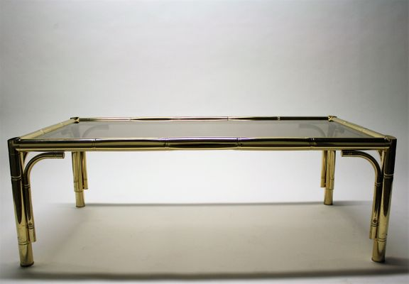 Vintage Faux Bamboo Coffee Table 1970s 1