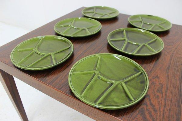 6 Gien porcelain fondue plates | Selency