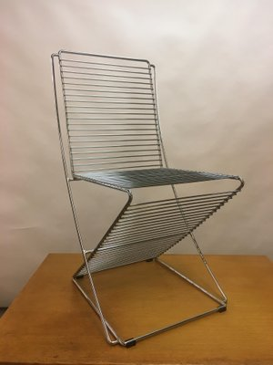 Vintage Metal Chrome Wire Chair 1970s 2