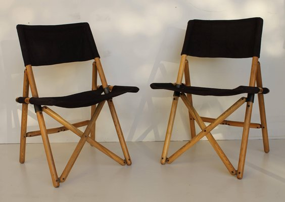 Italian Folding Chairs By Sergio Asti For Zanotta 1960s Set Of 4 1