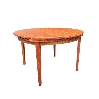 Mesa de comedor plegable Mid-Century de Dyrlund, años 50 en venta en ...