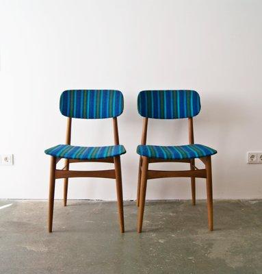 Skandinavische Teak Stühle, 1960er, 2er Set 1