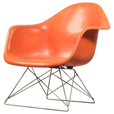 Vintage Lar Side Chair With Slide Base By Charles Ray Eames For