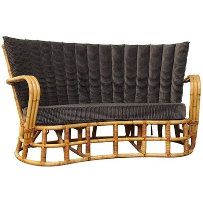Divani In Vimini Rattan.Vintage Rattan Bamboo Sofa For Sale At Pamono