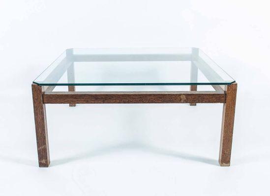 Mid-Century Wengeholz & Glas Couchtisch von Kho Liang Ie für ...