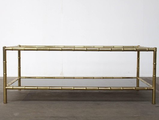 Vintage Two Tiered Coffee Table By Jacques Adnet