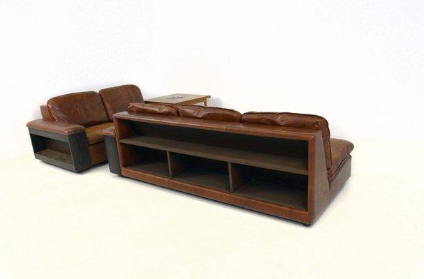 Superb Leather Sofas With Bookcases Set Of 2 Creativecarmelina Interior Chair Design Creativecarmelinacom