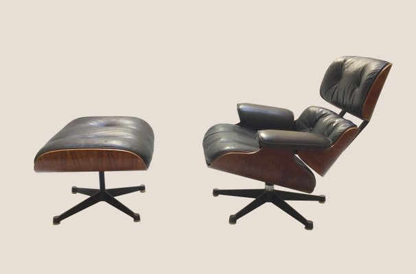 Eames Lounge Chair Fauteuils.Vintage Lounge Chair And Ottoman By Charles Ray Eames For Herman Miller