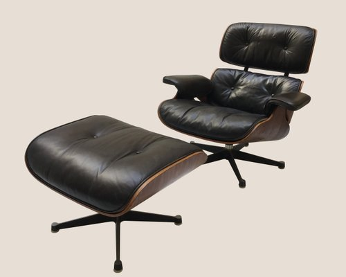 Awe Inspiring Vintage Lounge Chair And Ottoman By Charles Ray Eames For Herman Miller Beatyapartments Chair Design Images Beatyapartmentscom