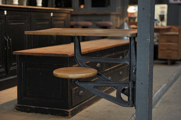 Chaise de bureau Chêne, Fer (fontefer forgé) Début du