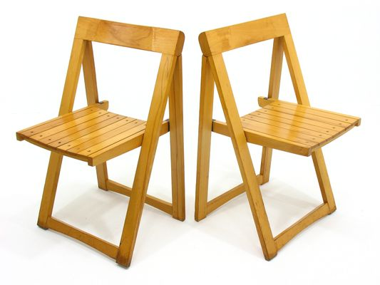 Vintage Folding Chairs By Aldo Jacober For Alberto Bazzani, 1970s, Set Of 2  1
