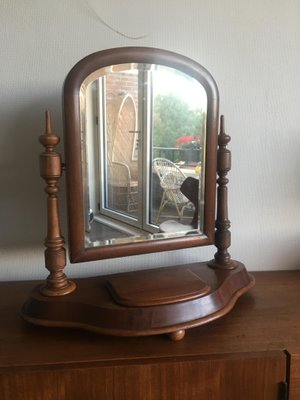 Antique Vanity Mirror Cherry From Early 1900 S For Sale In