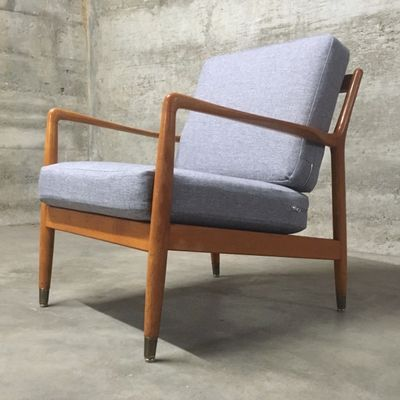 Swedish Mid Century Teak Easy Chair By Folke Ohlsson For Dux 1960s