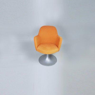 Silla giratoria de oficina naranja, años 70 en venta en Pamono