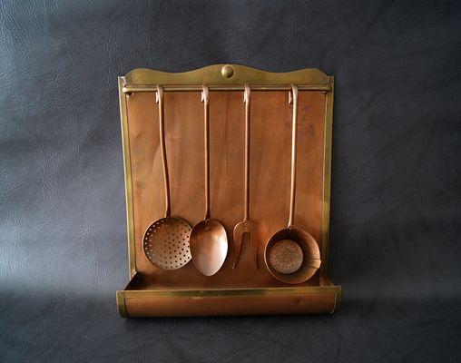 Set di utensili da cucina in rame anni 50 in vendita su pamono