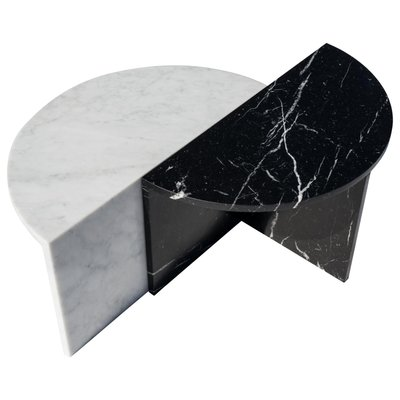 Black White Marble Coffee Tables By Sebastian Scherer Set Of 2