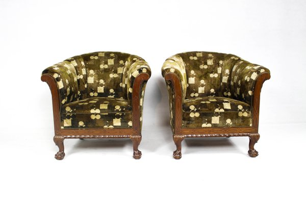 Danish Chippendale Club Chairs 1920s Set Of 2 For Sale At Pamono
