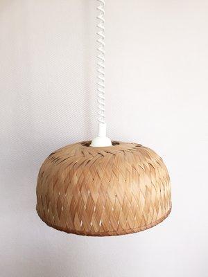 Vintage Hangelampe Aus Bambus Oder Palme 1960er Bei Pamono Kaufen