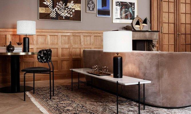 Lampe de bureau gravity en marbre noir par louis weisdorf en vente