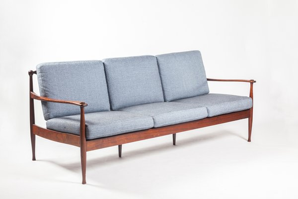 Customizable Mid Century Rosewood 3 Seater Sofa 3