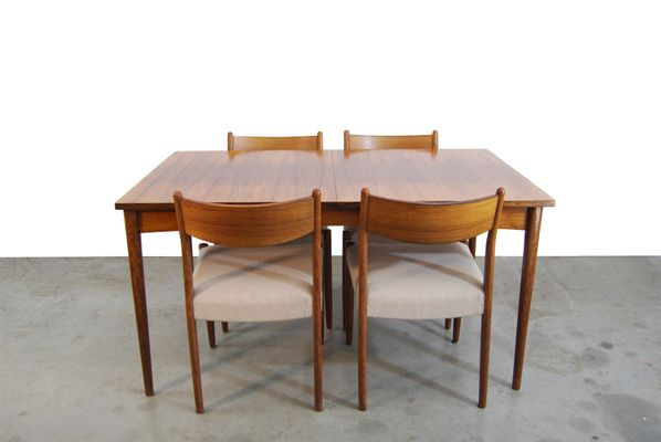 Table De Salle A Manger A Rallonge Vintage En Palissandre 1960s En