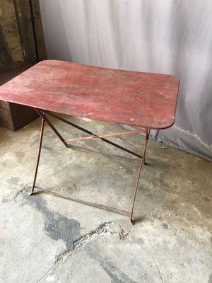 En Vente Vintage Métal De Sur Table Rouge Bistrot Pamono TwPZukiOXl