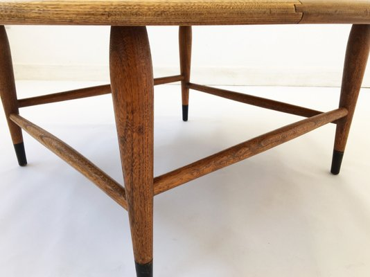 Walnut Marquetry Coffee Table By Andre Bus For Lane Furniture, 1960s 2