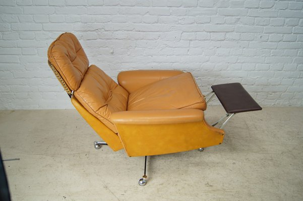 Tremendous Large Reclining Lounge Chair In Cognac Leather 1960S Gmtry Best Dining Table And Chair Ideas Images Gmtryco