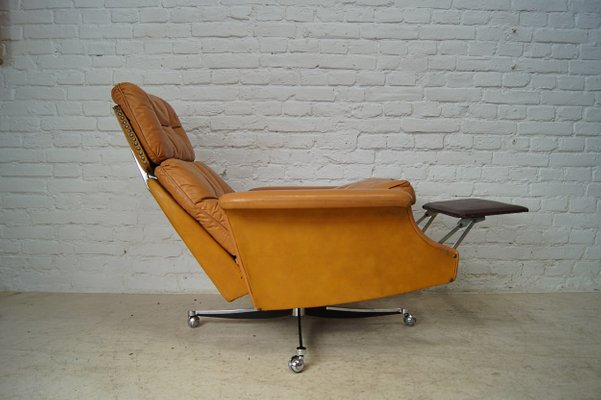 Brilliant Large Reclining Lounge Chair In Cognac Leather 1960S Short Links Chair Design For Home Short Linksinfo