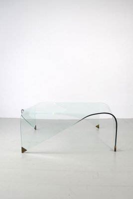 Square Curved Glass Coffee Table 1950s For Sale At Pamono