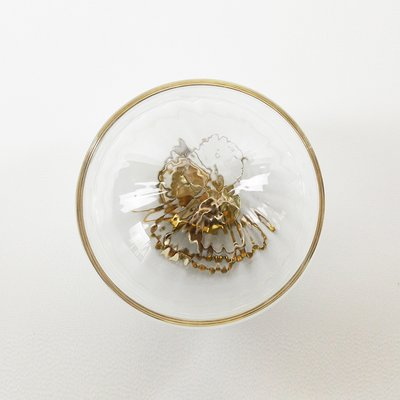 Boîte à Bijoux Gris Clair, Moire Collection, en Verre Soufflé par Atelier  George
