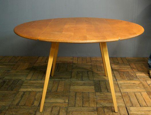 Table à Plateau Rabattable En Orme De Ercol 1960s 1