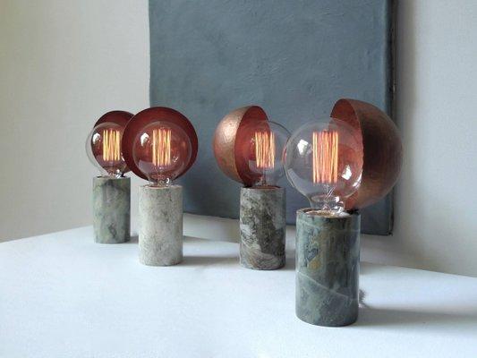 Lampe de bureau en marbre par sander bottinga en vente sur pamono