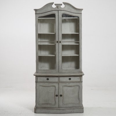 Antique 2 Piece Vitrine Cabinet 1
