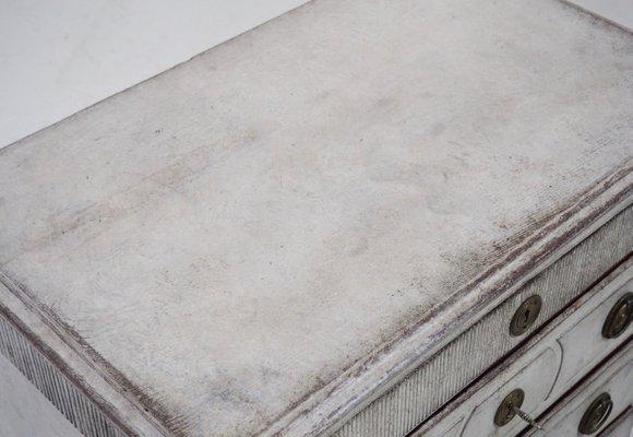 Antike Gustavianische Kommode mit originalem Schloß