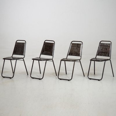 Vintage French Cafe Chairs, Set Of 4 1