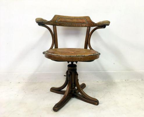 Antique Bentwood Swivel Office Chair From Josef Hofmann 2