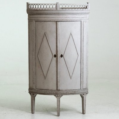 Antique Gustavian Style Corner Cabinet