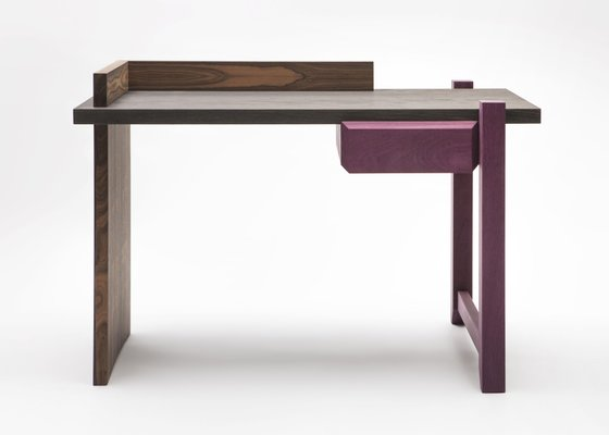 Ziricote Amaranth Wood Desk By Antonio Arico For Editamateria The Exceptional