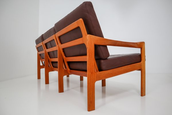 Danish Three Seater Teak Sofa By Illum Wikkelso For Niels Eilersen 1960s For Sale At Pamono