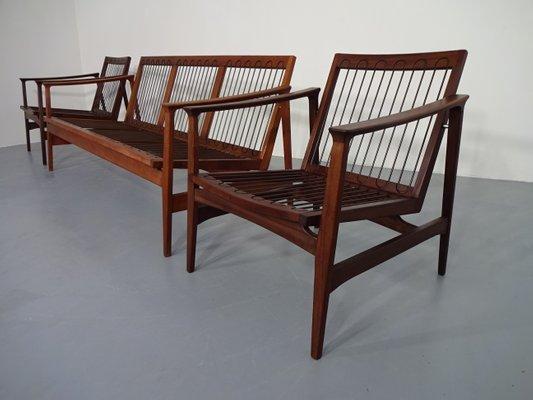 Outstanding Teak Sofa 2 Easy Chairs From Thonet 1950S Inzonedesignstudio Interior Chair Design Inzonedesignstudiocom