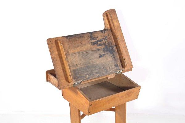Antique Adjustable Beech Wood School Desk 6 - Antique Adjustable Beech Wood School Desk For Sale At Pamono