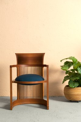 Taliesin Barrel Chairs By Frank Lloyd Wright For Cina 1980s Set Of 6 1