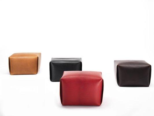 Admirable Red Leather Big Bao Ottoman By Viola Tonucci For Tonucci Manifestodesign Creativecarmelina Interior Chair Design Creativecarmelinacom
