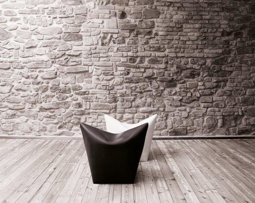 Mao Sitzsack Stuhl Aus Dunkelbraunem Leder Von Viola Tonucci Fur